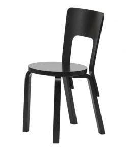 Artek Aalto tuoli 66, musta