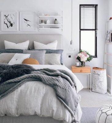 Pilkahduksia makuuhuoneen sisustuksessa