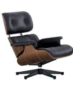 Vitra Lounge Chair nojatuoli, pähkinä-musta