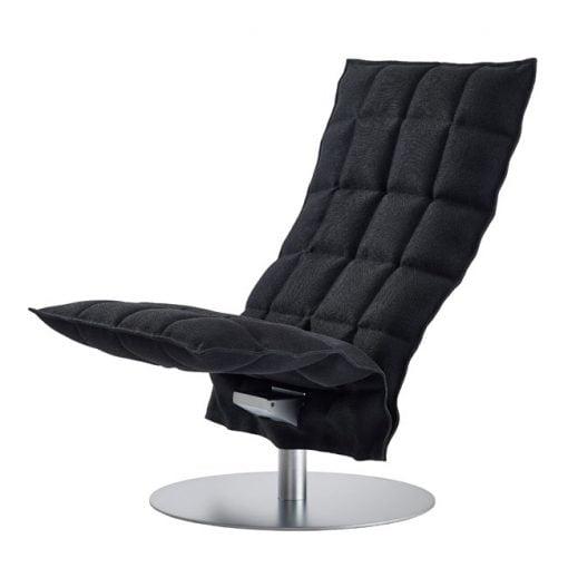 Woodnotes K tuoli, pyörivä, musta