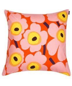 Pieni Unikko tyynynpäällinen, oranssi - pinkki