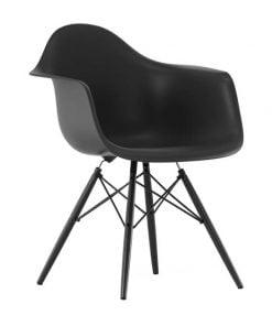 Vitra Eames DAW tuoli, musta