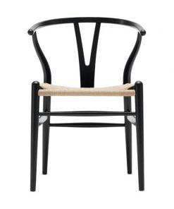 Carl Hansen & Son CH 24 Wishbone tuoli, musta