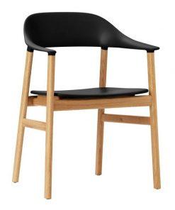 Normann Copenhagen Herit tuoli käsinojilla, musta