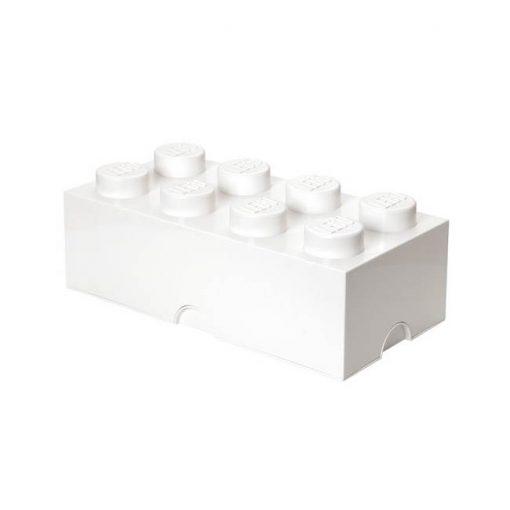 Lego säilytyslaatikko 8, valkoinen
