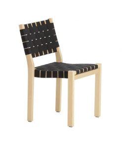 Artek tuoli 611, koivu-musta