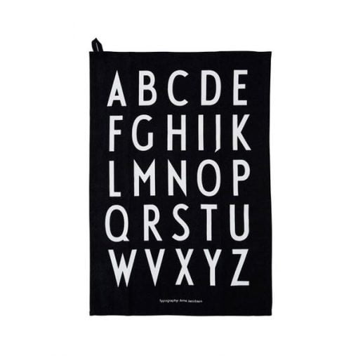 Design Letters Classic keittiöpyyhe, musta