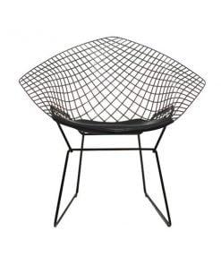 Knoll Bertoia Diamond tuoli, musta