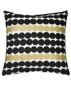 Marimekko Räsymatto tyynynpäällinen, valkoinen-kulta-musta