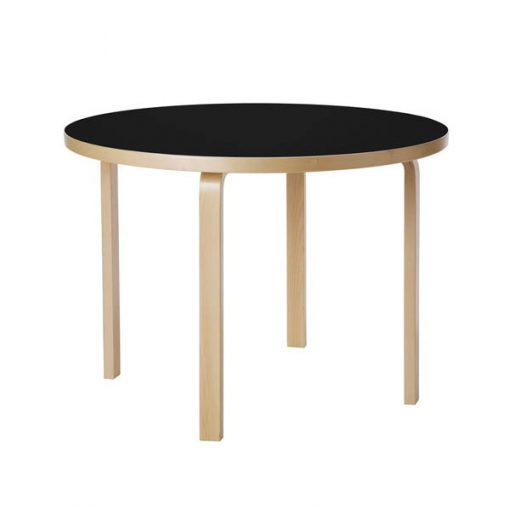 Artek Aalto pöytä 90A, koivu - musta