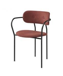 Gubi Coco tuoli käsinojilla, punainen