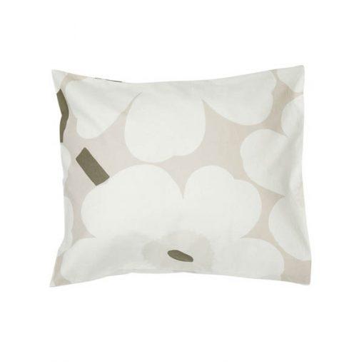 Marimekko Unikko tyynyliina, beige-valkoinen-harmaanvihreä