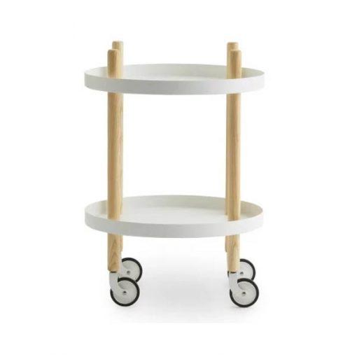 Normann Copenhagen Block pöytä, pyöreä, valkoinen