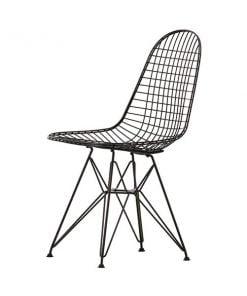 Vitra Wire Chair DKR tuoli, musta