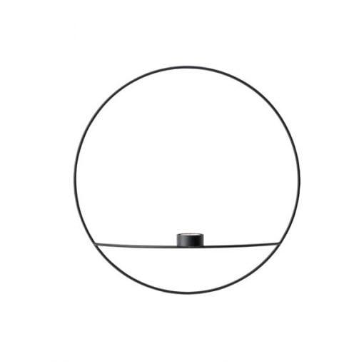 Menu POV Circle kynttilänjalka, musta