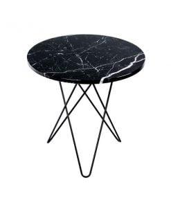 OX Denmarq Tall Mini O pöytä musta marmori