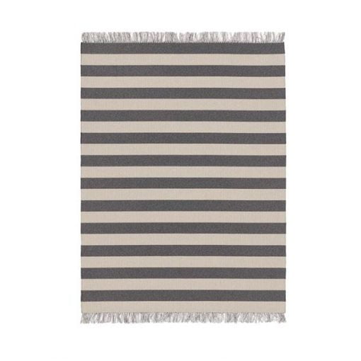 Woodnotes Big Strip matto, harmaa -vaalea hiekka