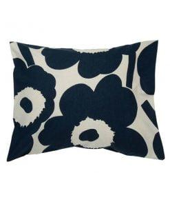 Marimekko Unikko tyynyliina, puuvilla - tummansininen