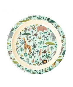 Rice Jungle animals lautanen