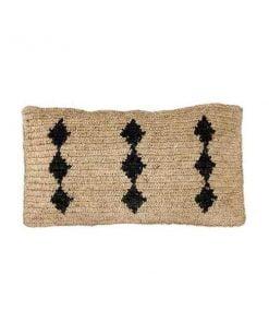 Zoco Home Raffia tyynynpäällinen, mustat kuviot
