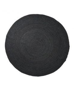 Ferm Living Eternal juuttimatto pyöreä, musta