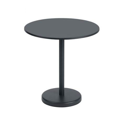 Muuto Linear Steel Café pöytä, pyöreä, musta