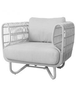Cane-line Nest nojatuoli, valkoinen