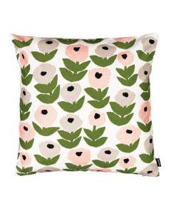 Kauniste Flora tyynynpäällinen, harmaa