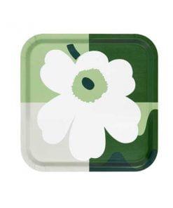 Marimekko Co-created tarjotin, valkoinen - vihreä